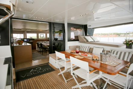 valium catamaran aft deck (8) min -  Valef Yachts Chartering - 0536