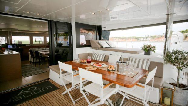 valium catamaran aft deck (9) min -  Valef Yachts Chartering - 0535