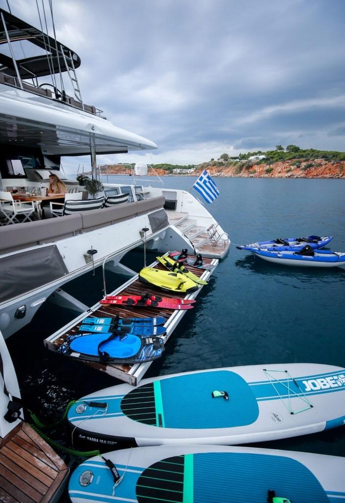 valium catamaran deck toys (7) min -  Valef Yachts Chartering - 0551