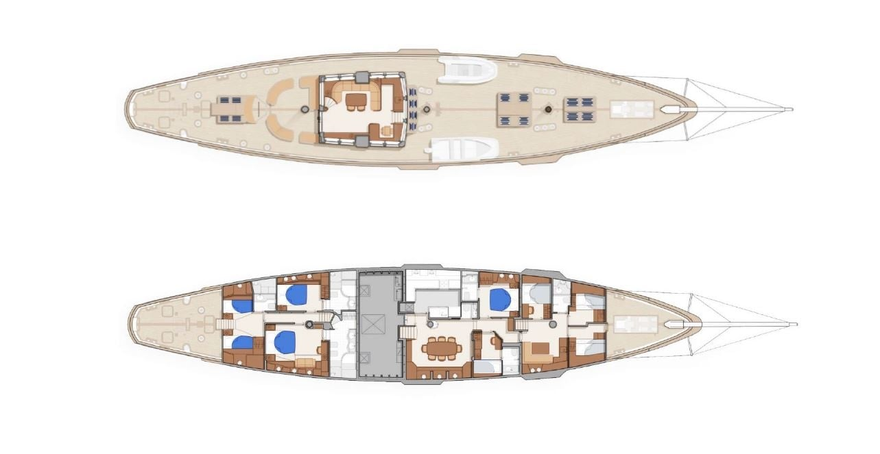 conrad malcolm miller sailing yacht layout min -  Valef Yachts Chartering - 0323