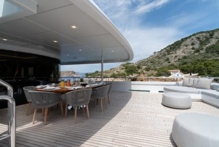 jaz motor yacht aft deck (5) min -  Valef Yachts Chartering - 0132