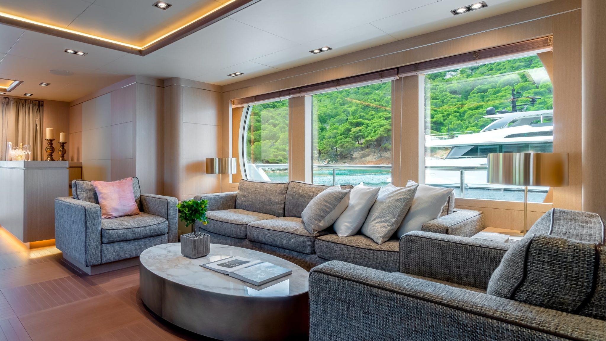jazz motor yacht salon side min -  Valef Yachts Chartering - 0102