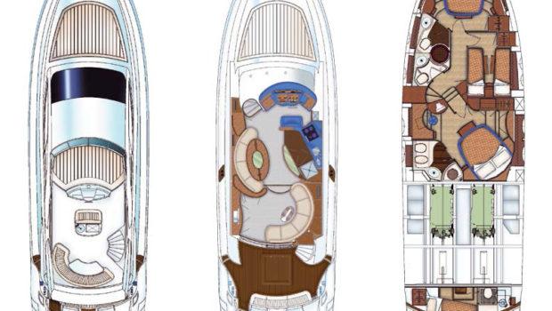 my joy aicon motor yacht layout -  Valef Yachts Chartering - 0253