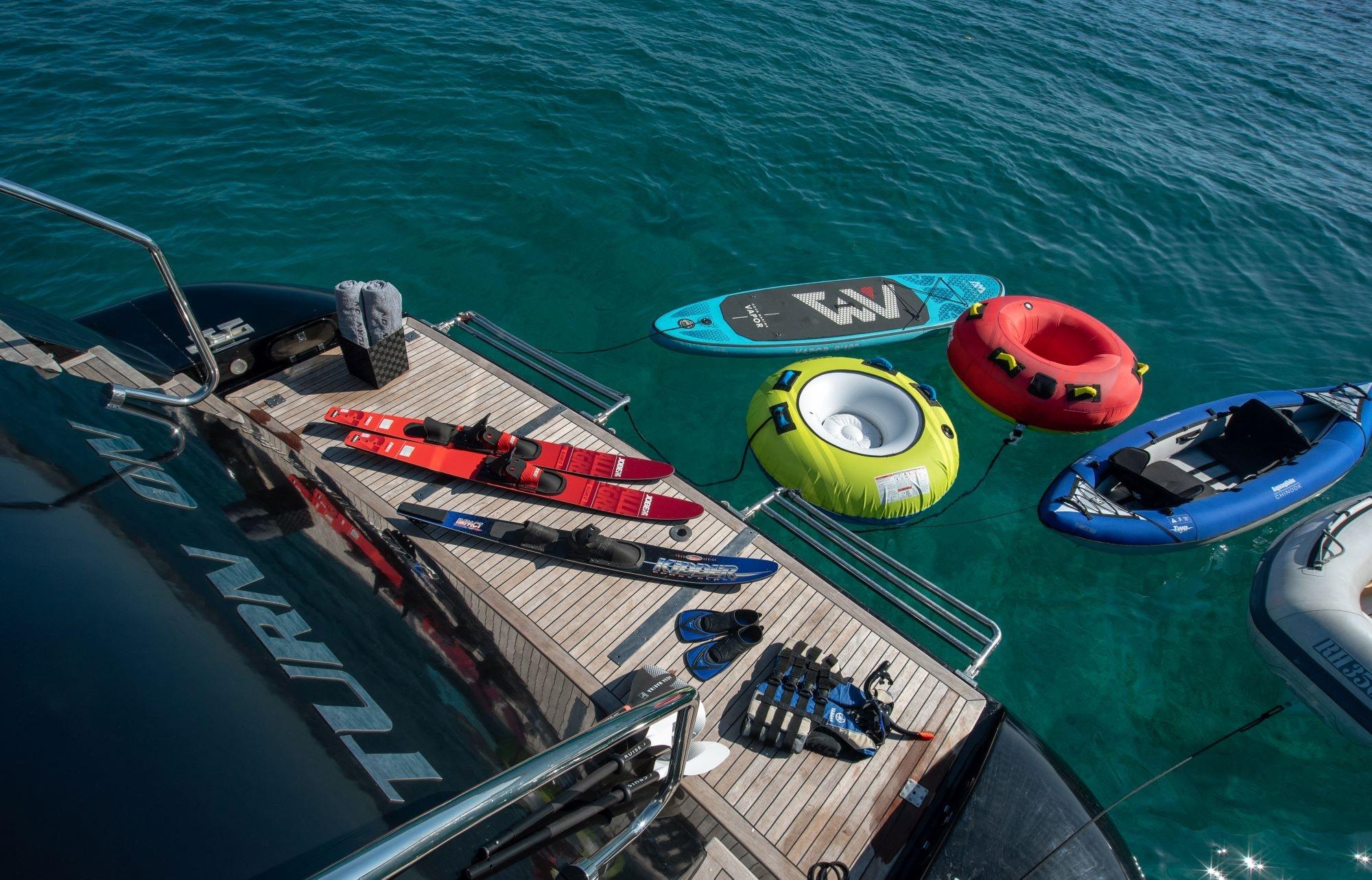 turn on motor yacht swim platform -  Valef Yachts Chartering - 0180