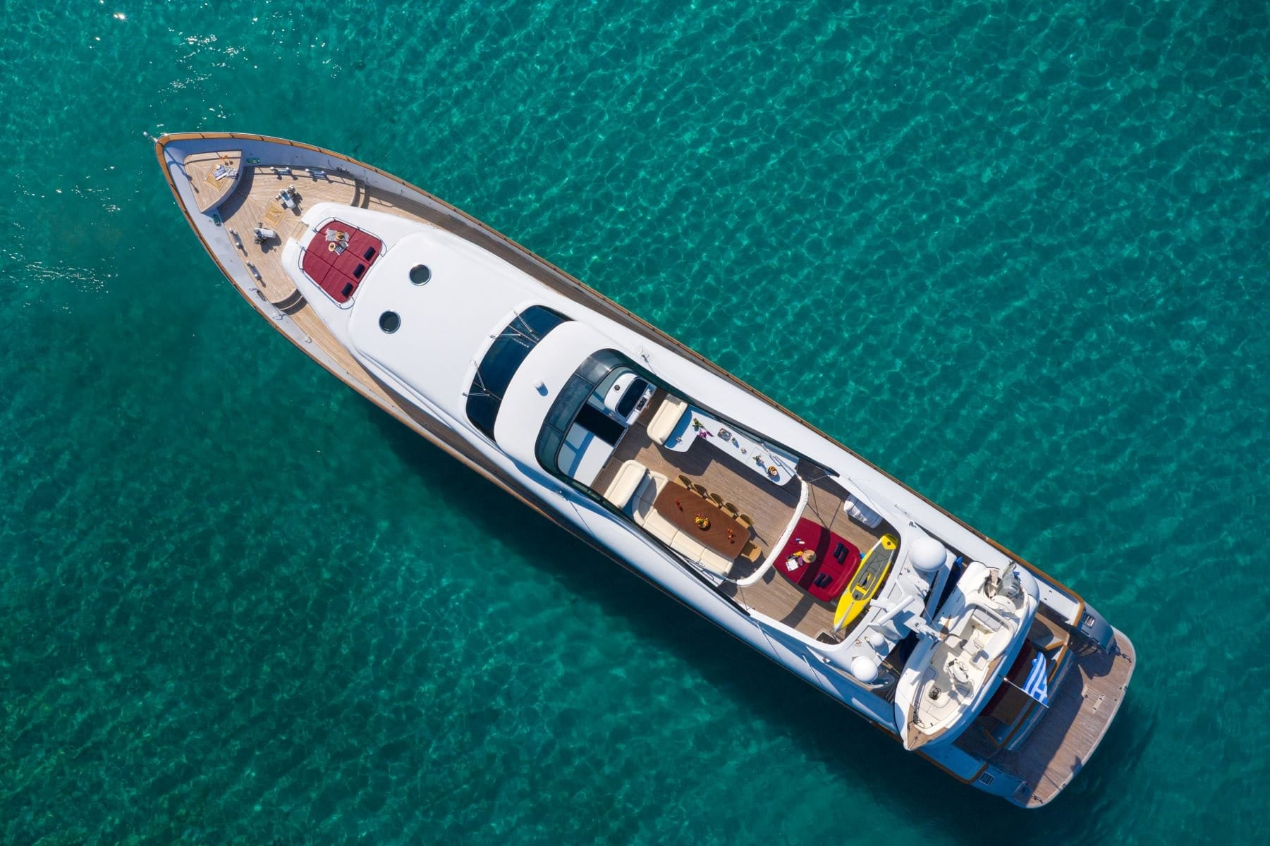 glaros motor yacht aerial view min -  Valef Yachts Chartering - 0033