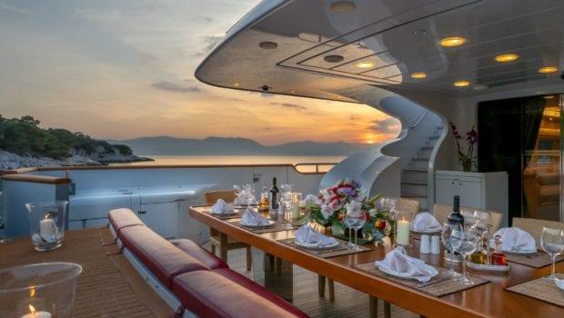 glaros motor yacht aft sunset min -  Valef Yachts Chartering - 0031