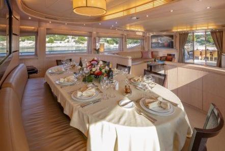 glaros motor yacht dining (1) min -  Valef Yachts Chartering - 0026
