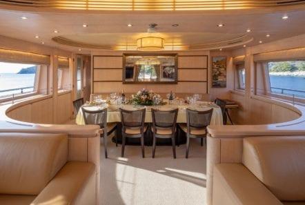 glaros motor yacht dining (2) min -  Valef Yachts Chartering - 0025