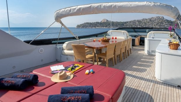 glaros motor yacht sundeck (2) min -  Valef Yachts Chartering - 0040