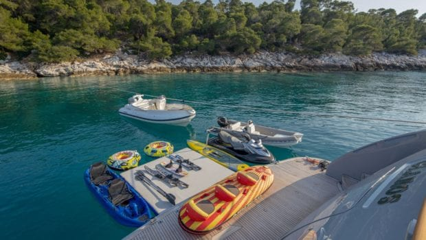 glaros motor yacht water toys min -  Valef Yachts Chartering - 0035