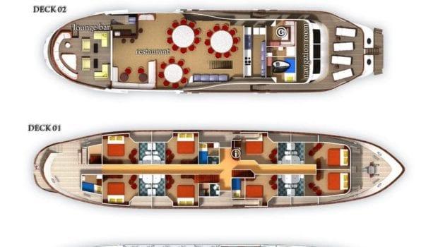 la perla motor cruiser croatia layout min -  Valef Yachts Chartering - 0067