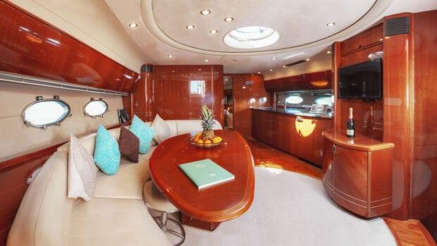 salon of motor yacht Aurelia