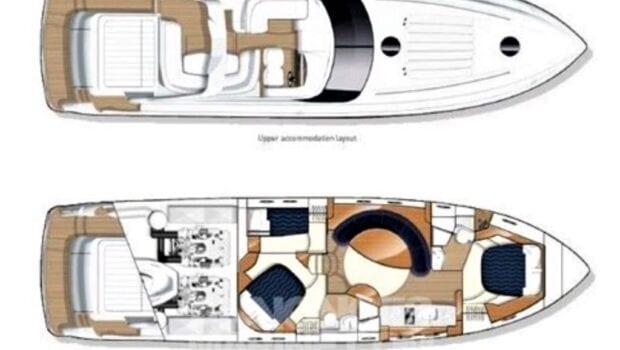 motor yacht Aurelia layout