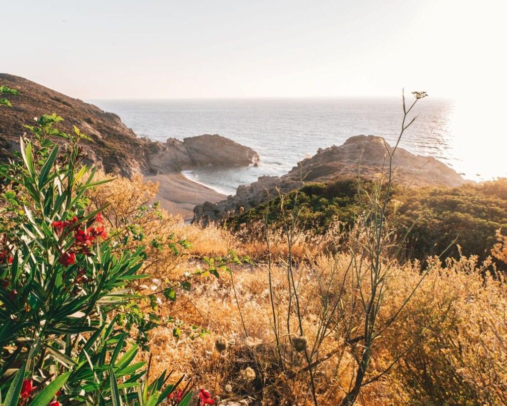 Beach and landscape Ikaria