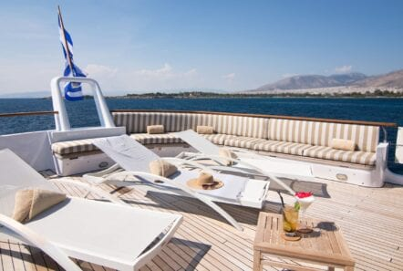 Upper deck of Suncoco yacht