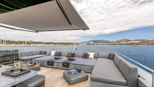 Deck lounge on a yacht