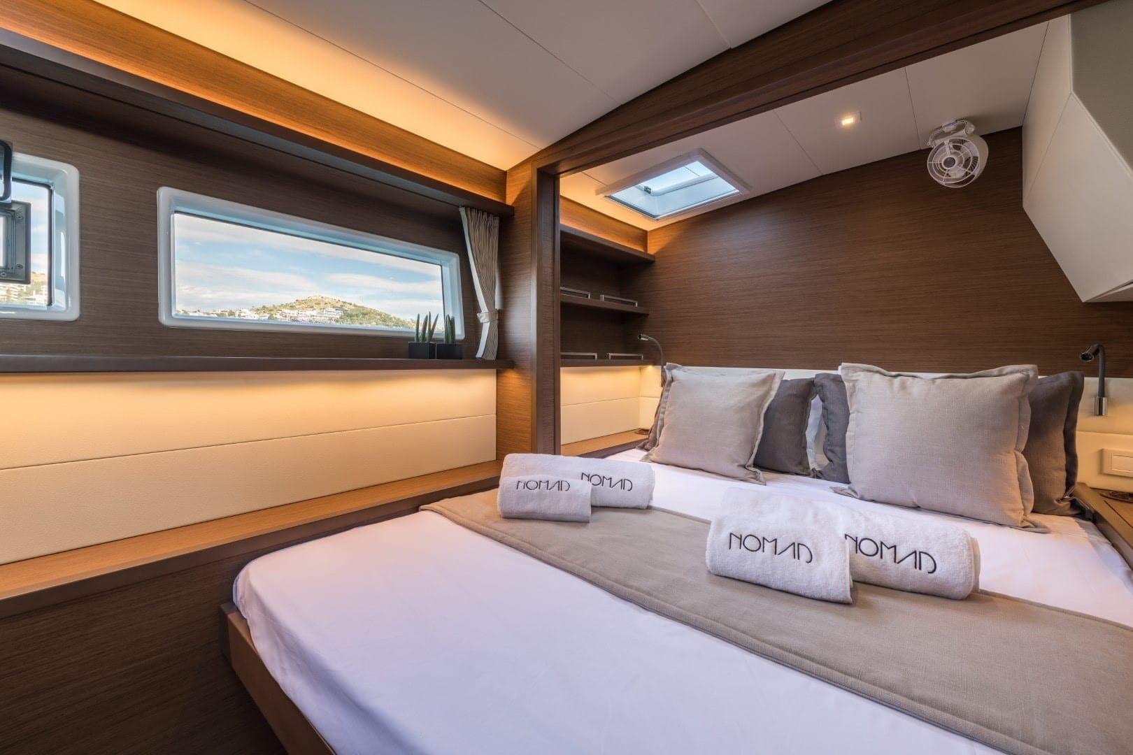 cabin of a catamaran