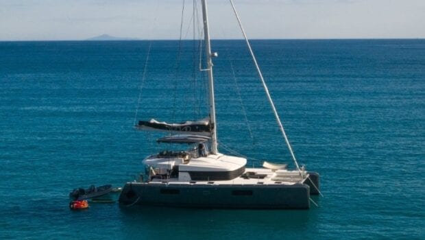 profile of a catamaran