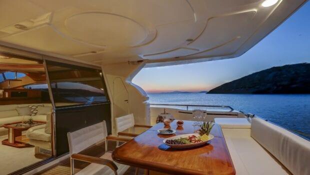 aft deck of alsium yacht