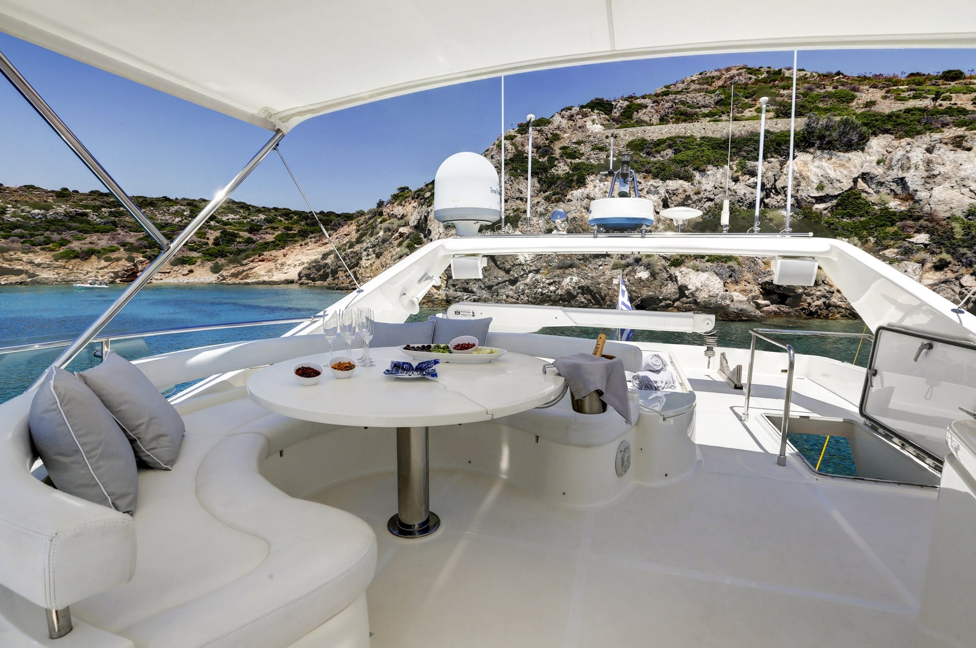 sundeck of alsium yacht