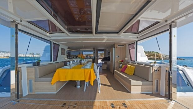 deck of yacht babalu