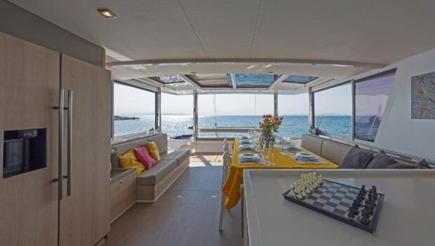 salon of yacht babalu