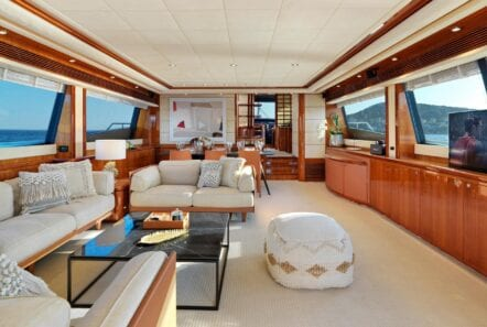 Salon of luxury yacht