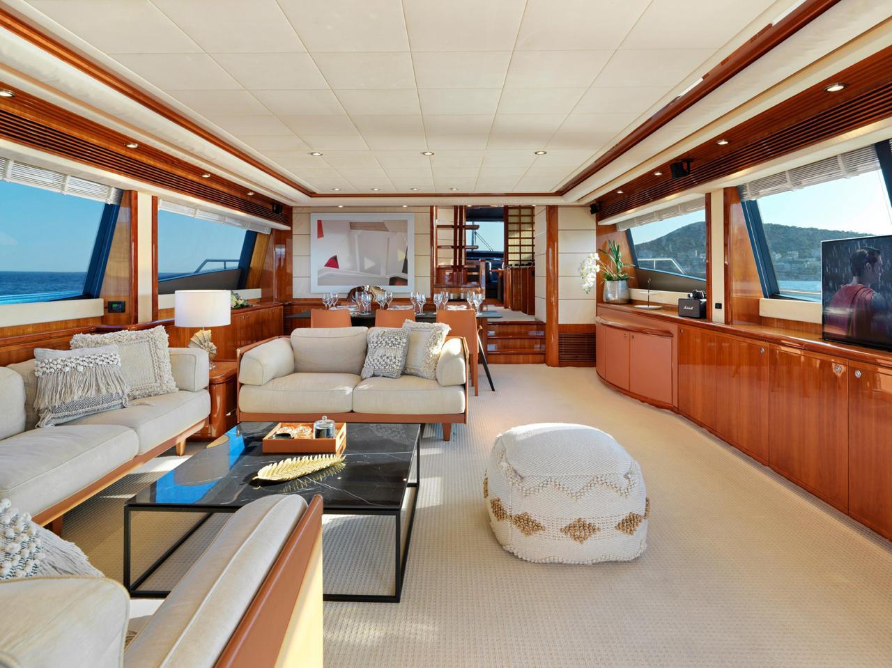 Salon of luxury yacht