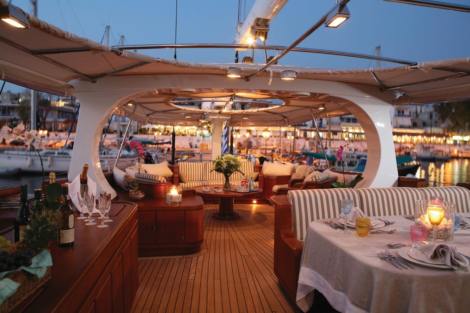 gitana yacht deck