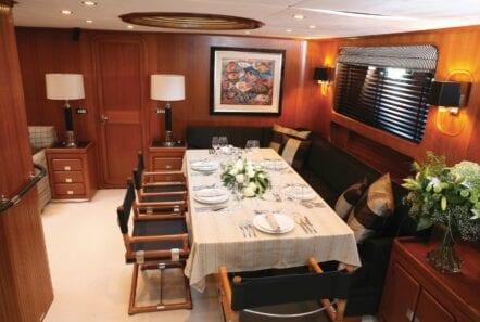 interior dining superyacht