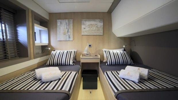 twins on a catamaran