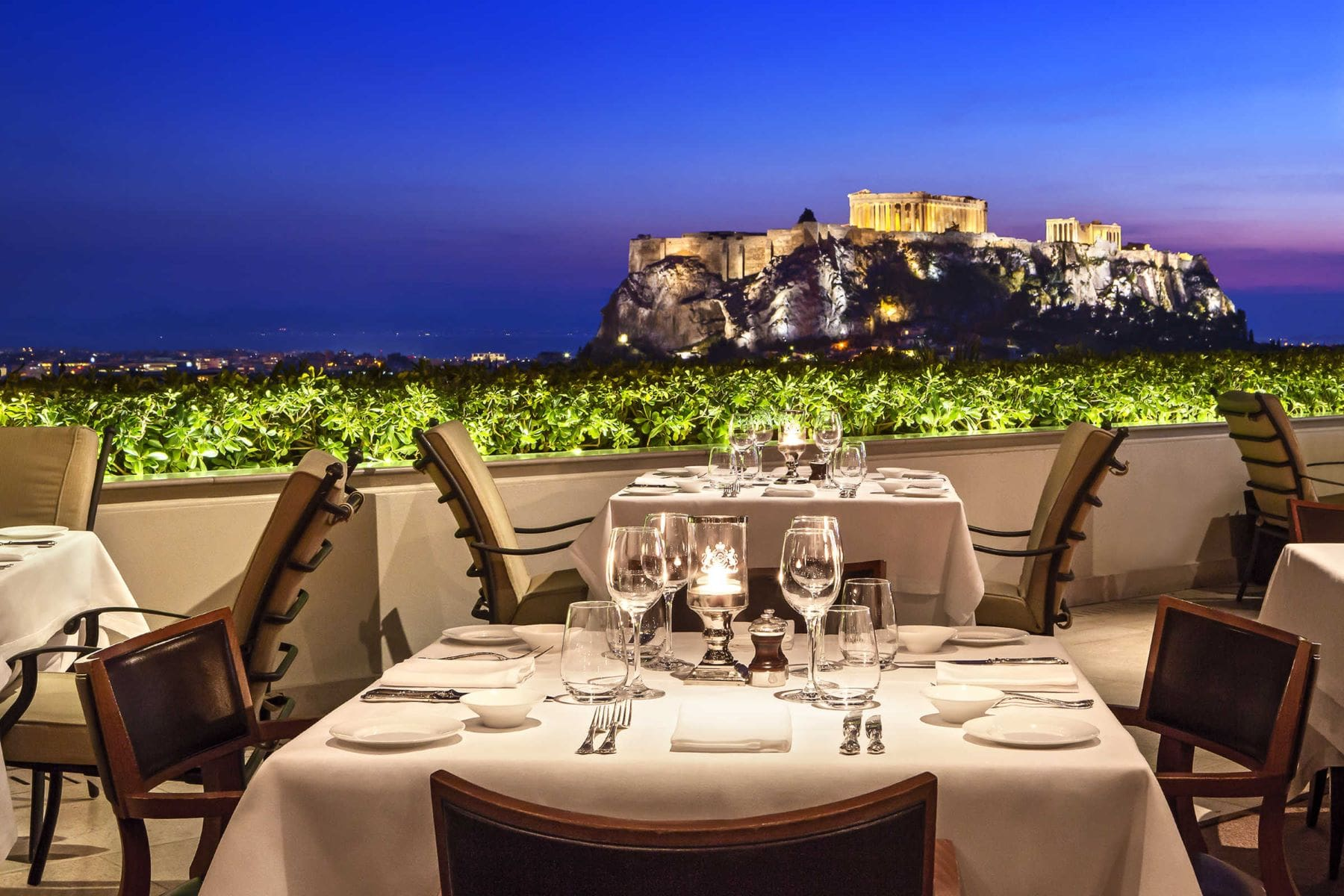 View of Acropolis from Grande Bretagne roof