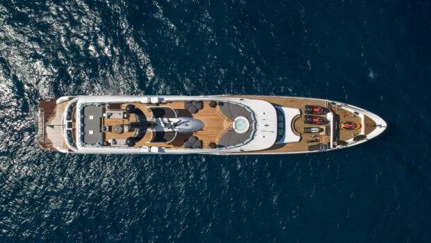 moka megayacht aerial