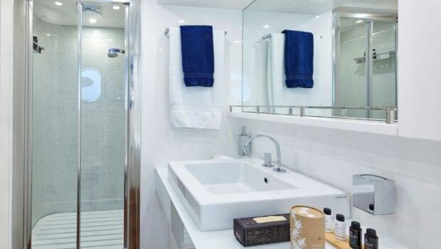 white knight yacht shower