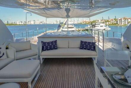 white knight yacht upper deck jacuzzi