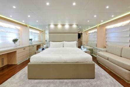 white knight yacht Owner suite