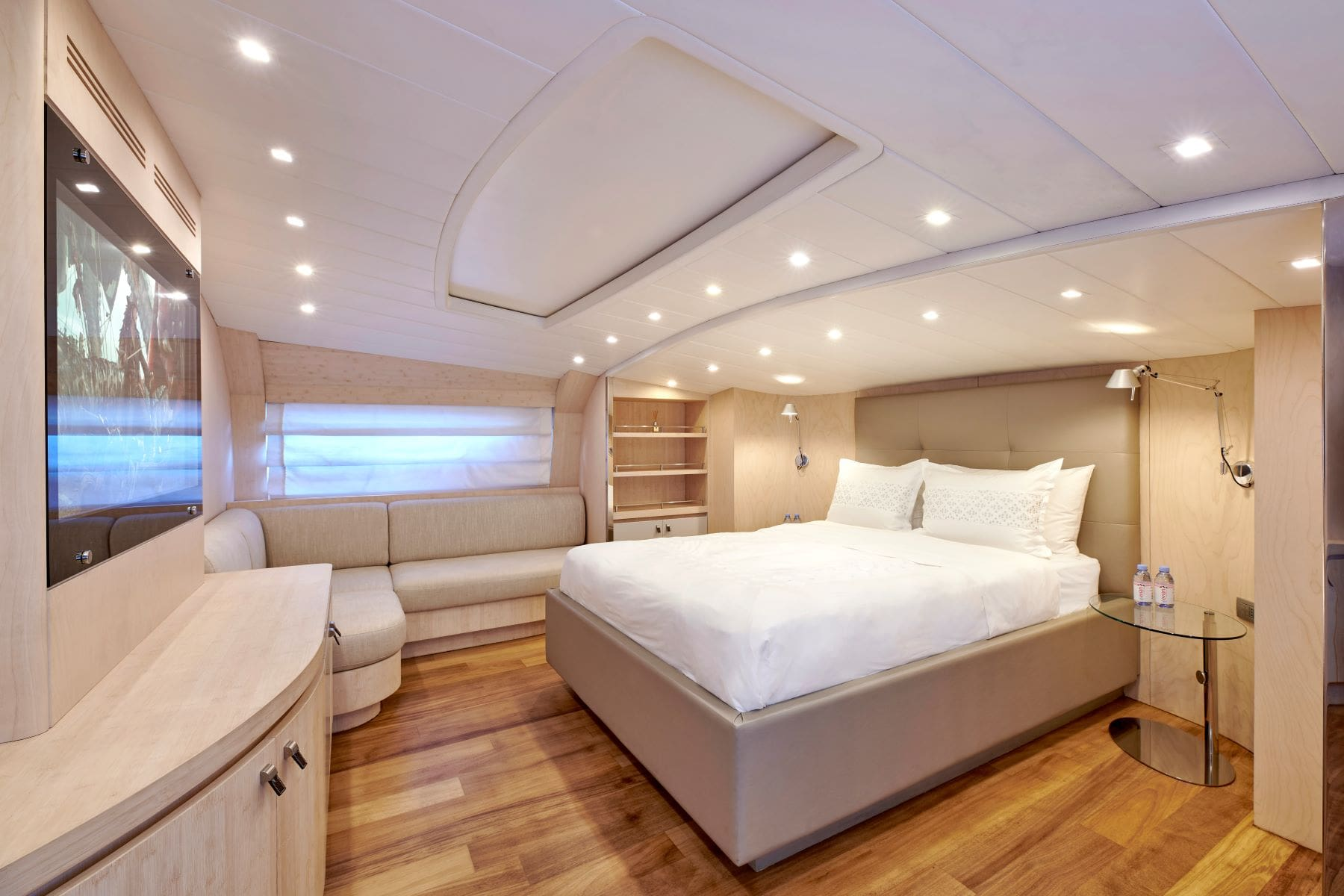 white knight yacht Owner's suite