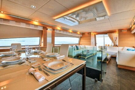 Dining on yacht America