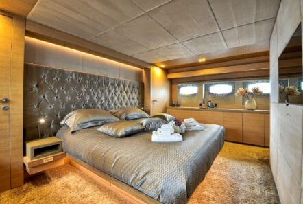 master suite on America yacht