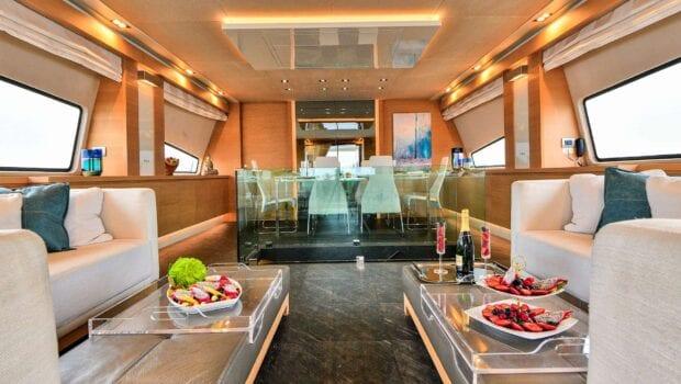 salon of American yacht