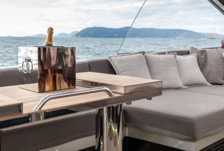 Gigreca Sailing Yacht Aft Lounge (1) - Valef Yachts Chartering