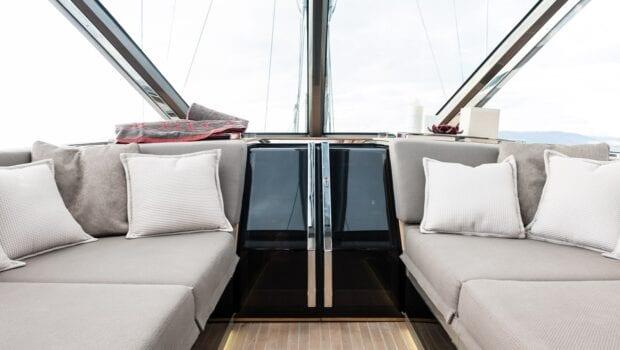 Gigreca Sailing Yacht Aft Lounge (2) - Valef Yachts Chartering