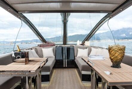 Gigreca Sailing Yacht Aft Lounge (3) - Valef Yachts Chartering