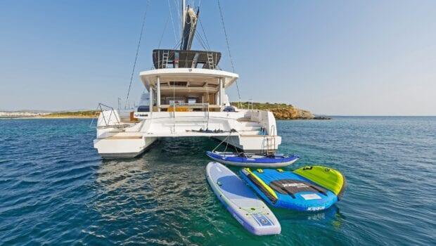 babalu catamaran aft view - Valef Yachts Chartering