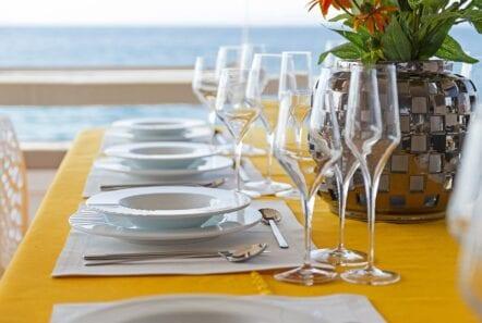 babalu catamaran dining - Valef Yachts Chartering