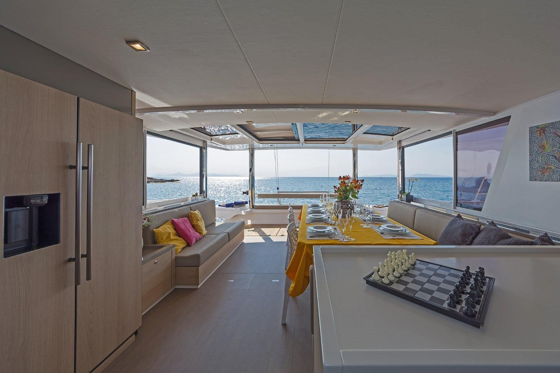 babalu catamaran interior (1) - Valef Yachts Chartering
