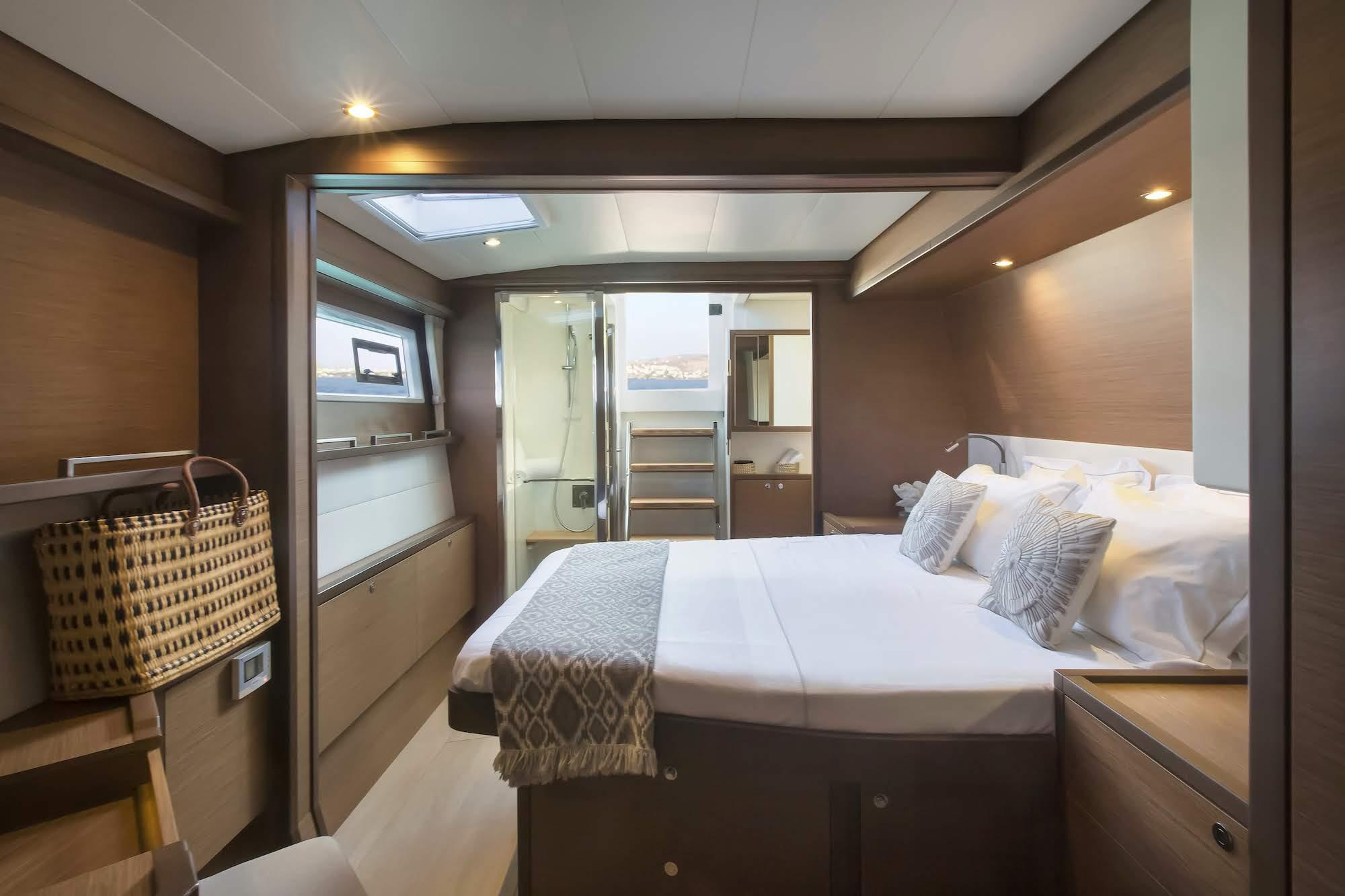 boom lagoon catamaran cabins (11) min - Valef Yachts Chartering