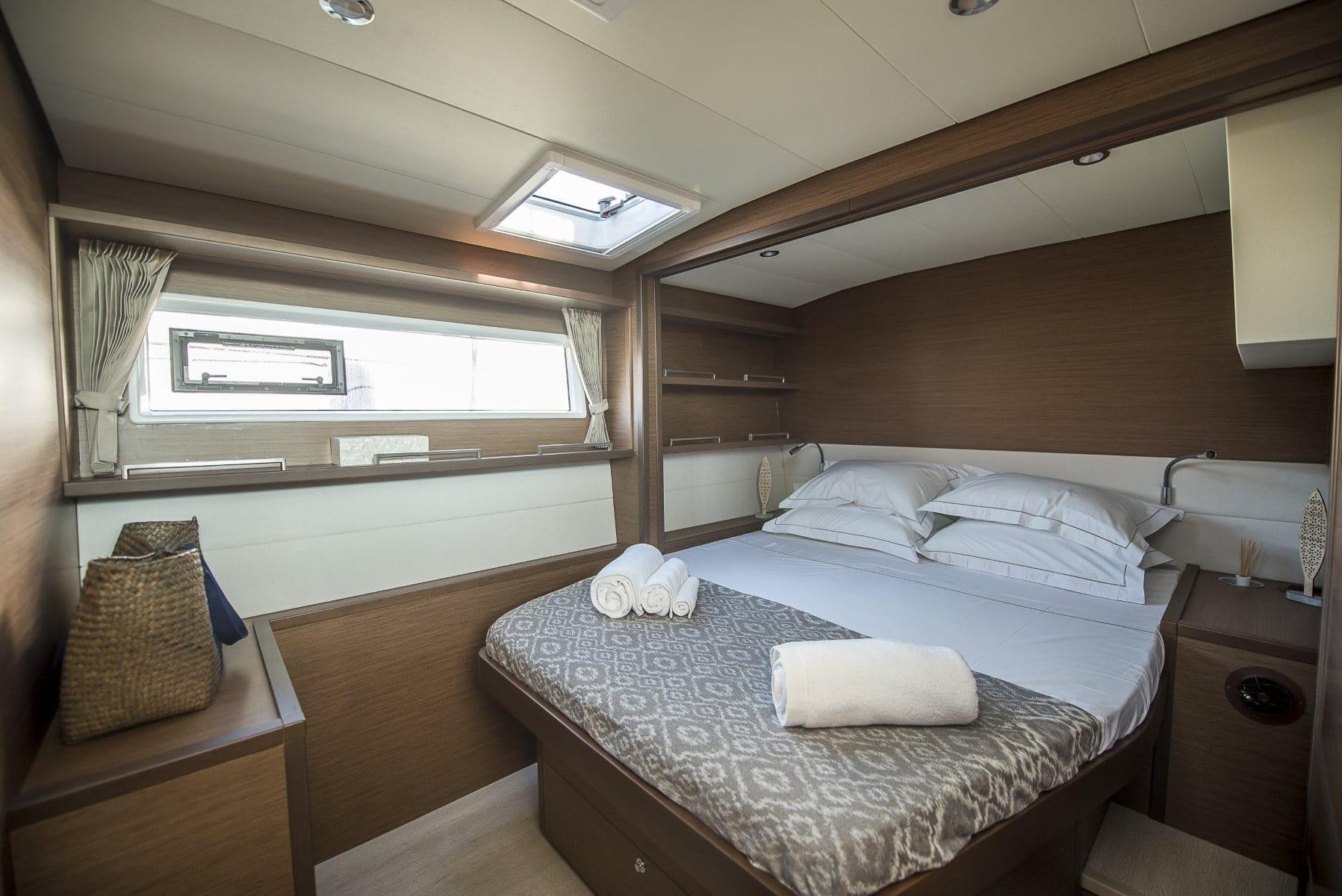 boom lagoon catamaran cabins (4) min - Valef Yachts Chartering