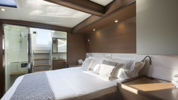 boom lagoon catamaran cabins (5) min - Valef Yachts Chartering