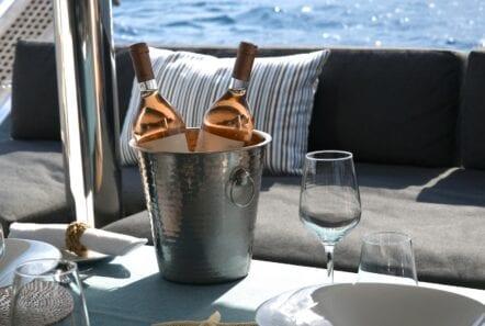boom lagoon catamaran wine - Valef Yachts Chartering
